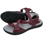 Sandbaggers Grace Golf Sandal - Burgundy