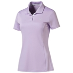 Puma Pounce Short Sleeve Golf Polo- Orchid Bloom
