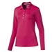 Puma Long Sleeve Golf Polo -  Rose Red