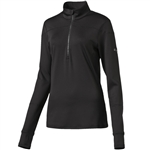 Puma Solid 1/4 Zip Long Sleeve Popover - Black