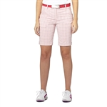 Puma Plaid Golf Bermuda Shorts - Pink Dogwood