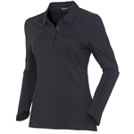 Sunice Kaylee Coollite Long Sleeve Polo - Black
