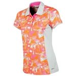 Sunice Abigail Coollite Short Sleeve Polo - Oyster Flash
