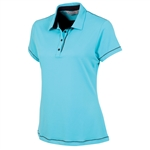 Sunice Maureen Coollite Sew Free Back Mesh Polo - Blue Water