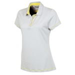 Sunice Maureen Coollite Sew Free Back Mesh Polo - Oyster/Mellow Yellow