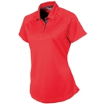 Sunice Jill Coollite Essentials Golf Polo - Real Red