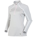 Sunice Pomona Stretch Athletic Pullover - Oyster/Blossom