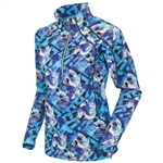 Sunice Megan Lightweight Thermal Stretch Pullover Violet Blue