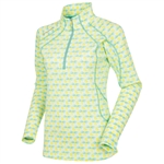 Sunice Megan Lightweight Thermal Stretch Pullover Spearmint Pinwheel