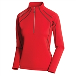 Sunice Megan Lightweight Thermal Stretch Pullover Real Red