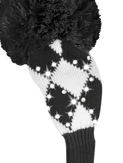 Just4Golf Sparkle Black/White Diamond Fairway Headcover