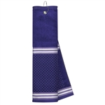 Just4Golf Purple Stripe Waffle Towel