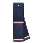 Just4Golf Navy Stripe Waffle Towel