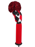 Just4Golf Red/Black Diamond Fairway Headcover