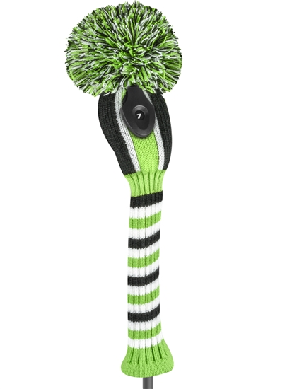 Just4Golf Vertical Stripe Lime/Black Hybrid Head Cover