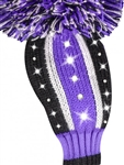 Just4Golf Sparkle Vertical Purple/Black Hybrid Head Cover
