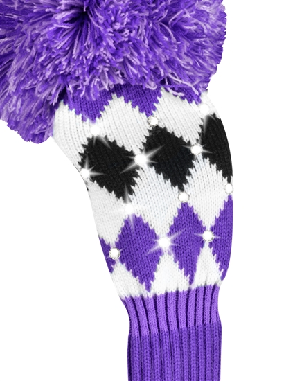 Just4Golf Sparkle Purple/Black Diamond Fairway Headcover