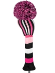 Just4Golf Pink/Black Stripe Driver Headcover