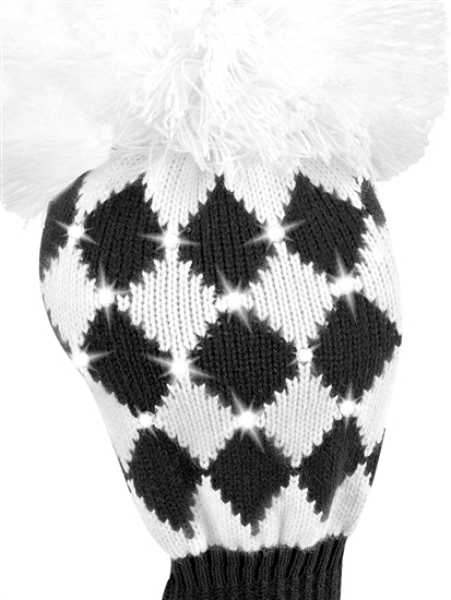 Just4Golf Sparkle Black/White Diamond Driver Headcover