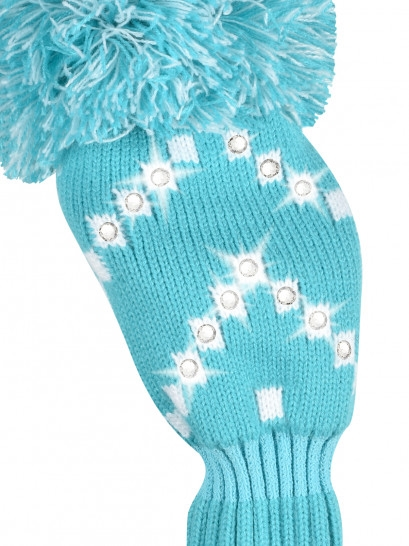 Just4Golf Sparkle Chevron Turquoise/White Fairway Headcover