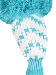 Just4Golf Sparkle White/Turquoise Chevron Hybrid Headcover