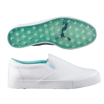 Puma Tustin Slip-on Golf Shoe - White/Aruba Blue