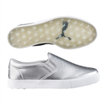 Puma Tustin Puma Silver/White Slip-on Golf Shoe