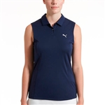 Puma Pounce Sleeveless Golf Polo - Peacoat