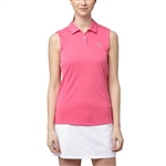 Puma Pounce Sleeveless Golf Polo - Shocking Pink