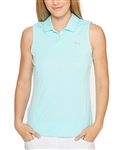 Puma Pounce Sleeveless Golf Polo - Aruba Blue