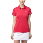 Puma Pounce Short Sleeve Golf Polo - Bright Rose
