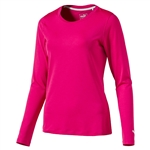 Puma Long Sleeve Crew Golf Top - Bright Rose