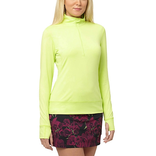 Puma Bloom 1/4 Zip Popover - Sharp Green