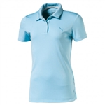 Puma Youth Girls Pounce Short Sleeve Golf Polo - Nrgy Turquoise