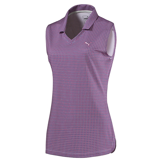 Puma Pinwheel Sleeveless Polo - Beetroot Purple