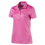 Puma Jacquard Golf Polo - Shocking Pink