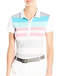 Puma Road Map Stripe Golf Polo - Aruba Blue