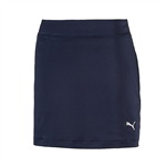 Puma Youth Girls Solid Knit Golf Skort - Peacoat Blue