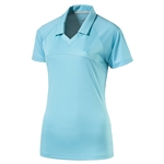 Puma Mesh Back Golf Polo - Blue Atoll