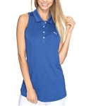 Puma Racerback True Blue Sleeveless Golf Polo