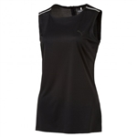 Puma Sleeveless Zip Crewneck Top - Puma Black