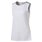 Puma Sleeveless Zip Crewneck Top - Bright White