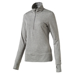 Puma 1/4 Zip Golf Popover - Medium Grey Heather