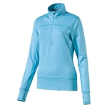 Puma 1/4 Zip Golf Popover - Blue Atoll