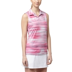Puma Uncamo Sleeveless Golf Polo - Shocking Pink