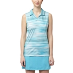 Puma Uncamo Sleeveless Golf Polo - Blue Atoll