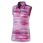 Puma Junior Girls Uncamo Sleeveless Golf Polo - Shocking Pink