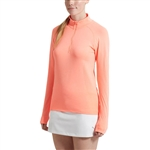 Puma Evoknit Seamless 1/4 Zip Top - Nrgy Peach Heather