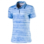 Puma Youth Girls Watercolor Golf Polo - Nrgy Turquoise/Lapis Blue