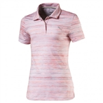 Puma Youth Girls Watercolor Golf Polo - Nrgy Peach/Quarry